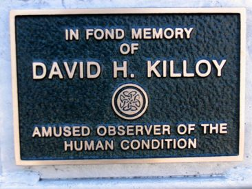 Racks with Plaques - David H Killoy