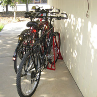 Angled Bike Racks – 3 Slot – 3 Bikes – Wall