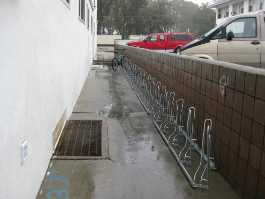 Angled Bike Racks - Installation