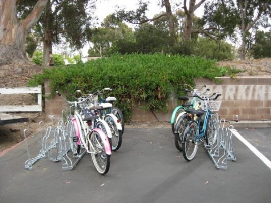 Angled Bike Racks - Installation - Back to Back Parallel