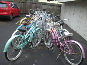 Angled Bike Racks - Installation - Back to Back Full with Baskets