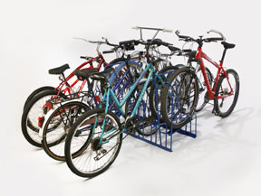 Double-Sided Bike Racks - 8 Slot - 8 Bikes