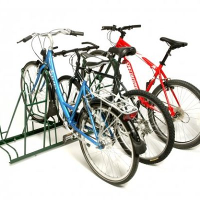 4-Slot Single-Sided Rack – 3 Bikes