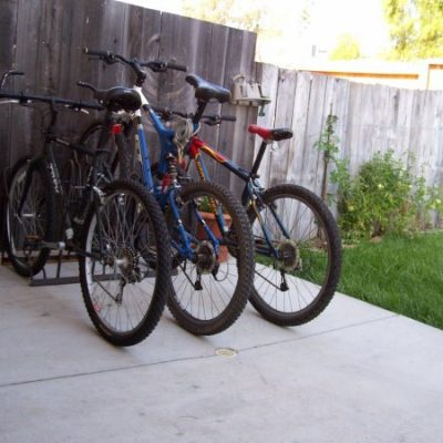 Home Bike Racks - 3 Slot - Outdoor Angle