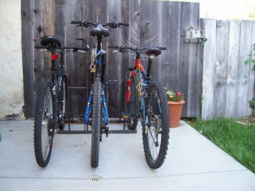 Home Bike Racks - 3 Slot - Outdoor Back