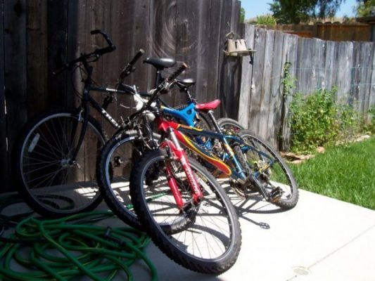 Home Bike Racks - Outdoor Before
