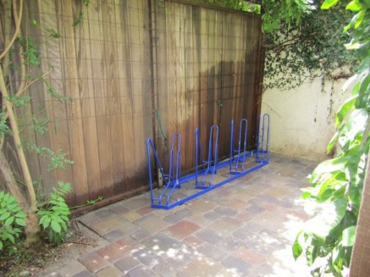 Angled Bike Racks - Garden Space Empty