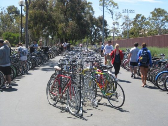 Angled Bike Racks - Rec Center Full